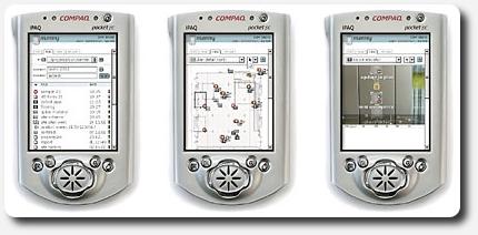 Sreenshots of the Mummy application on PDA